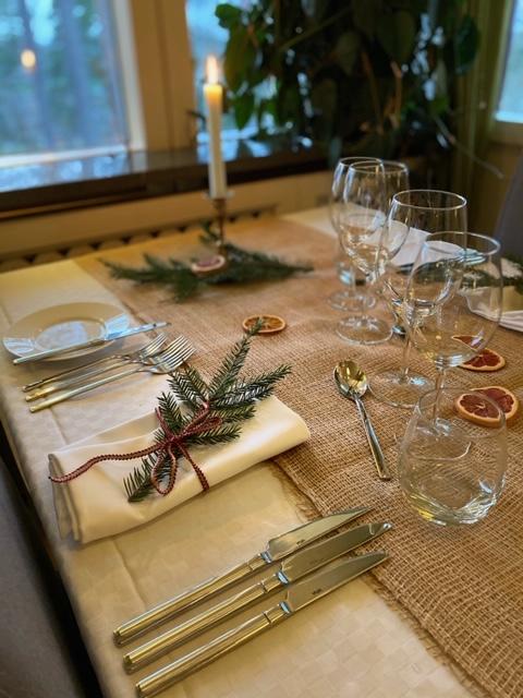 Bordsdukning jul